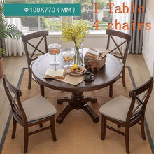 Load image into Gallery viewer, Juego De Comedor Dinning Meja Makan Comedores Mueble Set Tafel Shabby Chic Wooden Round Mesa Desk Tablo Bureau Dining Table