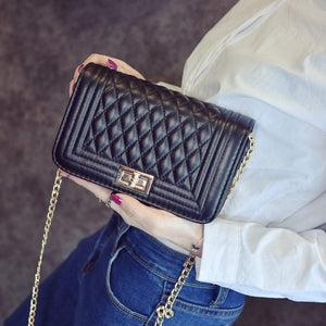 Classic Women Shoulder Bag Female Vintage Mini Flap Bag Small Chain Quilted Handbag Messenger Crossbody Bag Pink/Black/Beige