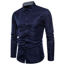 Load image into Gallery viewer, Mens Long Sleeve Oxford Formal Casual Suits Slim Fit Tee Dress Shirts Blouse Top