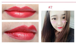 New 16 Colors Cute Makeup For Women Pink Brand Lips Cosmetics Long Lasting Moisturize Change Jelly Matte Lipstick With Flower