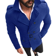 Load image into Gallery viewer, Men's Autumn Winter Slim Fit Long Sleeve Suit Top Jacket Trench Coat Outwear