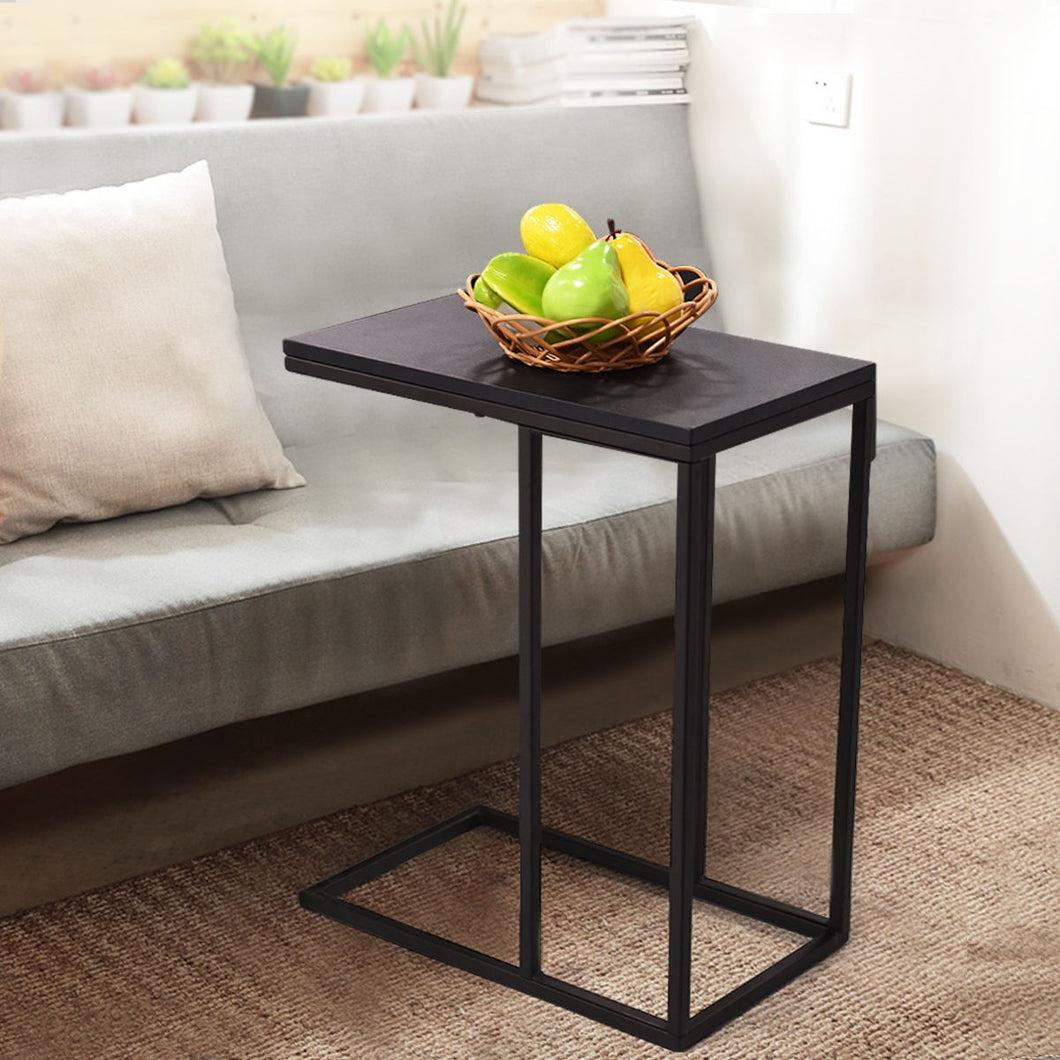 Costway Coffee Tray Sofa Side End Table Ottoman Couch Console Stand TV Lap Snack Black