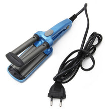Load image into Gallery viewer, 1Pc Mini Ceramic Hair Crimper Curler Curling Iron Tong Waving Wand Roller Salon Hot