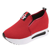 Load image into Gallery viewer, Women flat platform shoes women breathable mesh casual shoes thick sole heel ladies shoes