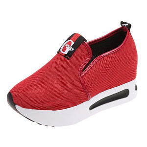 Women flat platform shoes women breathable mesh casual shoes thick sole heel ladies shoes