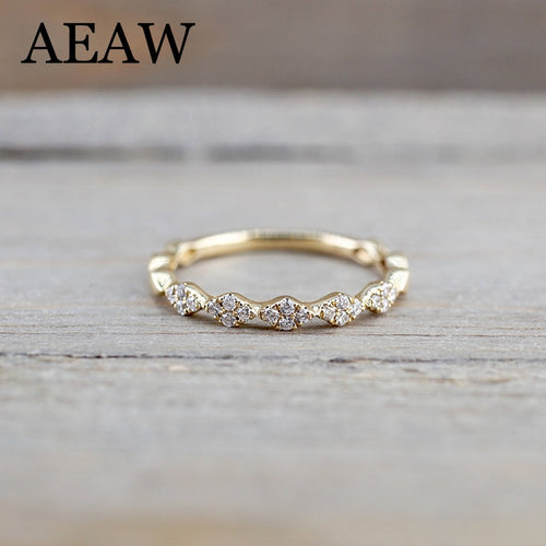 14K Yellow Gold  DF Moissanite  Moissanite  Engagement Band Total lab Diamond Solitaire Wedding for Women