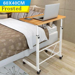 Pink Notebook Computer Desk Bed Learning with Household Lifting Folding Mobile Bedside Table Writing Desktop Computer Desk