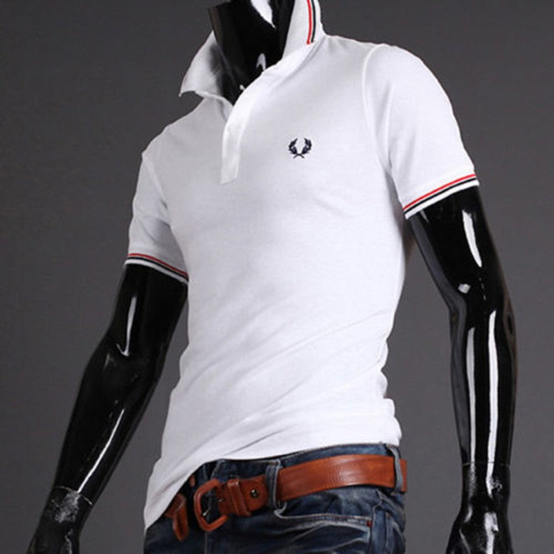 New Mens Stylish Casual Slim Fit Short Sleeve Polo Shirt T shirts Tee Shirt