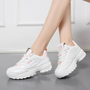 2019 Shoes White Shoe Women Fashion Brand Retro Platform Sneaker Lady Autumn Winter footwear Breathable chaussure Soft