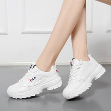 Load image into Gallery viewer, 2019 Shoes White Shoe Women Fashion Brand Retro Platform Sneaker Lady Autumn Winter footwear Breathable chaussure Soft