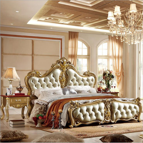 high quality bed Fashion European French Carved bedside 1.8 m bed   p10052