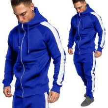 Load image into Gallery viewer, Mens Autumn Winter Zipper Print Sweatshirt Top Pants Sets Sport Suit Tracksuit