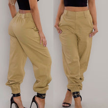 Load image into Gallery viewer, Womens Trousers Casual Pants Military Army Combat Beam Foot Pants Pocket Pants