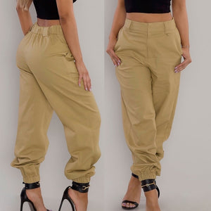 Womens Trousers Casual Pants Military Army Combat Beam Foot Pants Pocket Pants