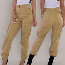Load image into Gallery viewer, Womens Cargo Trousers Casual Pants Military Army Combat Solid Pants Pocket Pants