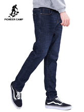 Load image into Gallery viewer, Pioneer camp new winter warm fleece jeans brand clothing solid trousers men quality thick  straight jeans pants blue ANZ803173