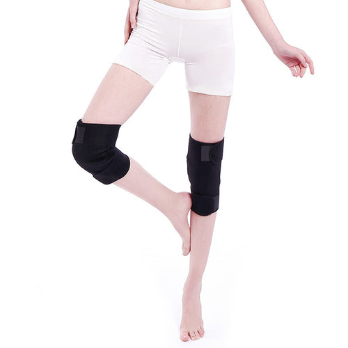 1 Pair Magnetic Therapy Large Range Knee Protector 2Pcs Adjustable Self Heating Knee Nursing Pads Knees Support Belt Health Caring Free Size