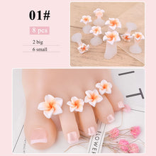 Load image into Gallery viewer, 8 pcs/set Nail Art Tools Silicone Toe Separator Foot Pads For Home & Salon Use Pedicure DIY Design Manicure Accessory