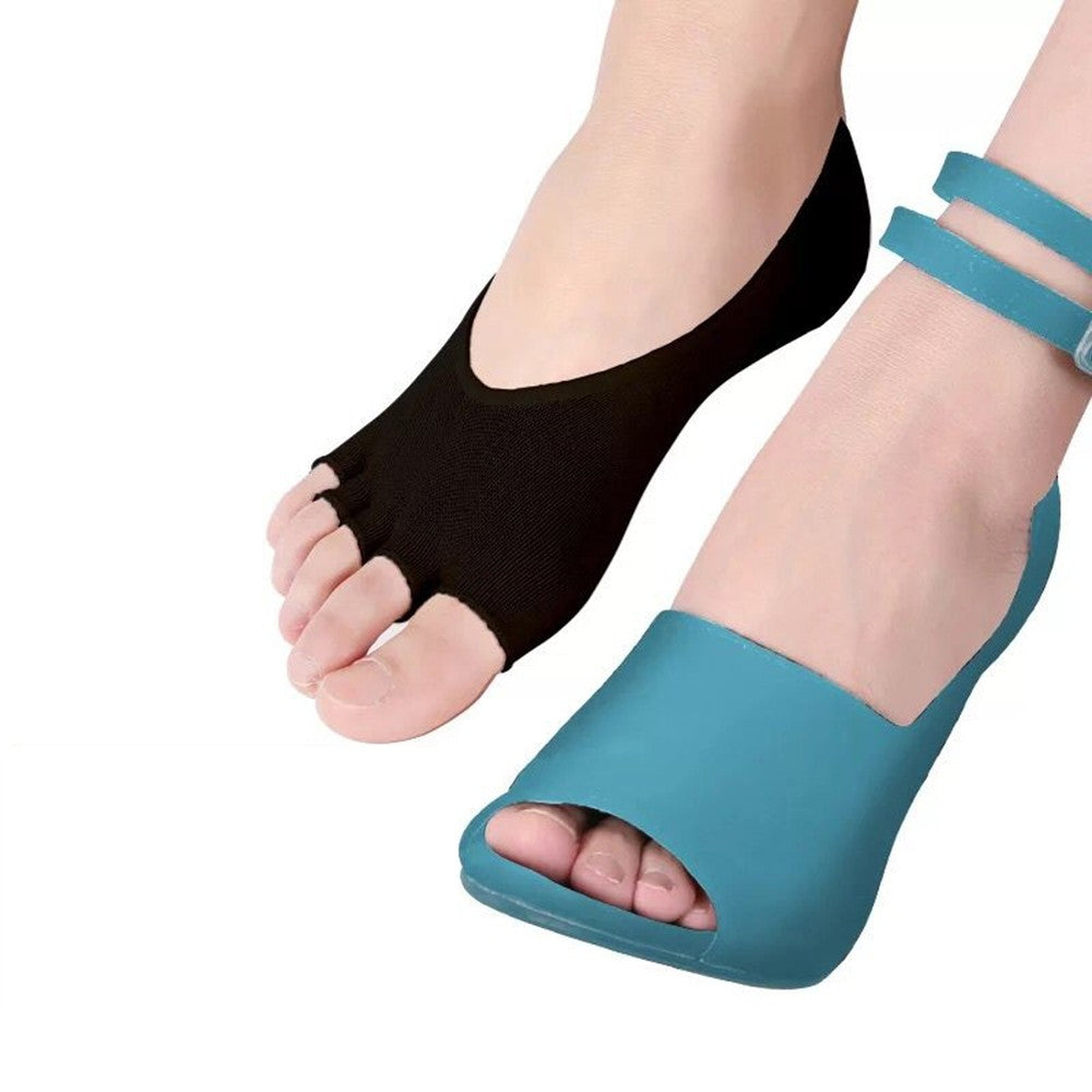 Five-toe Socks High Heels and Invisible Open-toed Socks Foot Care