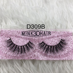 Factory sell  Jade thick 3d mink fur lashes 100% real dense 3d mink false lash faux strip eyelashes