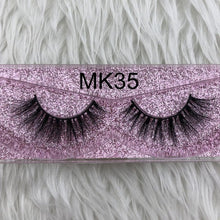 Load image into Gallery viewer, Factory sell  Jade thick 3d mink fur lashes 100% real dense 3d mink false lash faux strip eyelashes