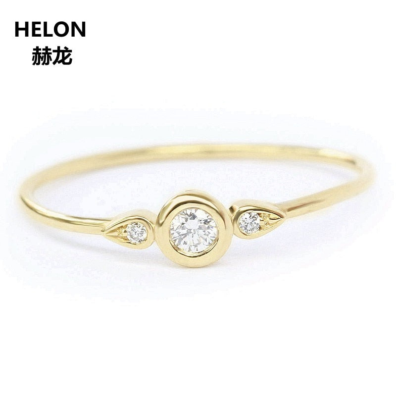 SI/H Natural Diamonds Engagement Wedding Ring for Women Sold 14k Yellow Gold Anniversary Party Fine Jewelry