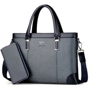 Classic Design Unisex Handbag Business Briefcase Computer Office Bags Waterproof PVC Fabric Travel Work Shoulder Bag