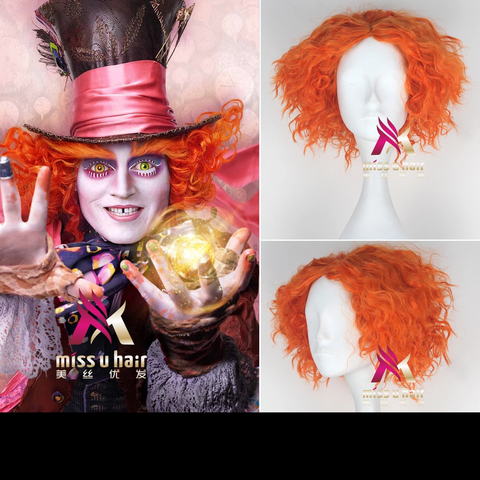 Hutmacher Perücke  Alice In Wonderland Johnny Depp Mad Hatter Hutmacher Cosplay Perücke