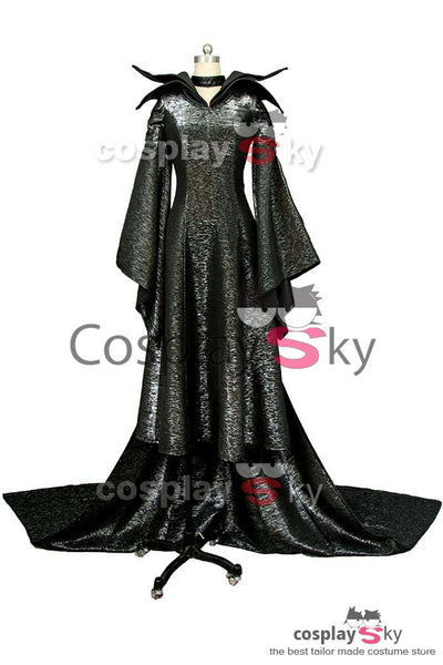 Disney MALEFICENT Die dunkle Fee Angelina Jolie Cosplay Kleid Costume Full Set
