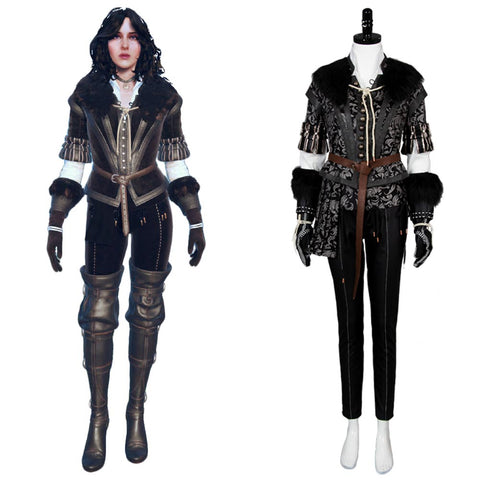 The Witcher 3 Wild Hunt Yennefer Outfit Cosplay Kostüm Set
