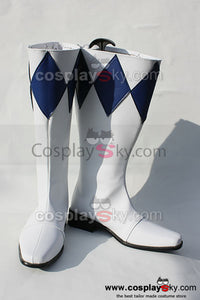 Mighty Morphin Power Rangers Dan Tricera Ranger Cosplay Boots Shoes