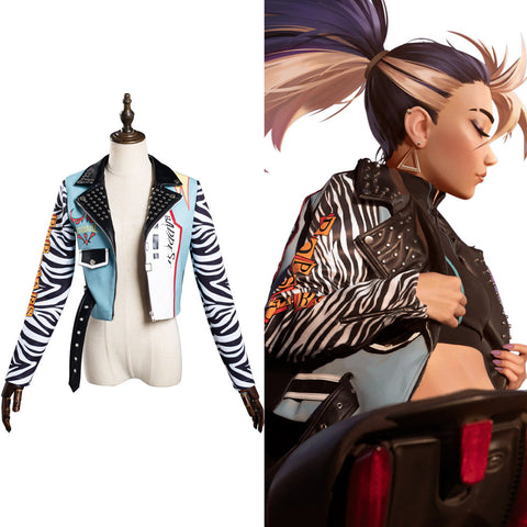 LOL KDA Akali Jacke The Rogue Assassin Akali Jacke Cosplay Kostüm