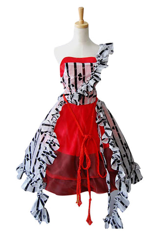 Tim Burton Alice In Wonderland Alice Rot Kleid Kostüm Cosplay