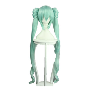 Vocaloid Miku Green Long Peücke Cosplay Peücke