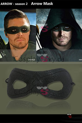 Green Arrow Oliver Queen Augenklappe Maske Cosplay Stuetze