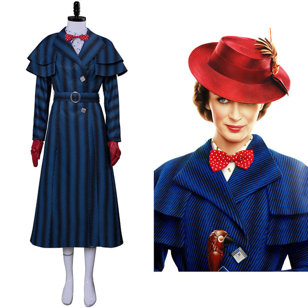 2018 Film Mary Poppins Returns Mary Poppins' Rückkehr Mary Poppins Cosplay Kostüm