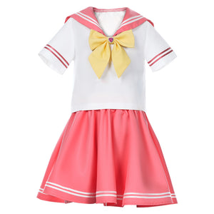 Sailor Moon Sailor Mars JK Uniform Kinder Mädchen Matrosenanzug Cosplay Kostüm