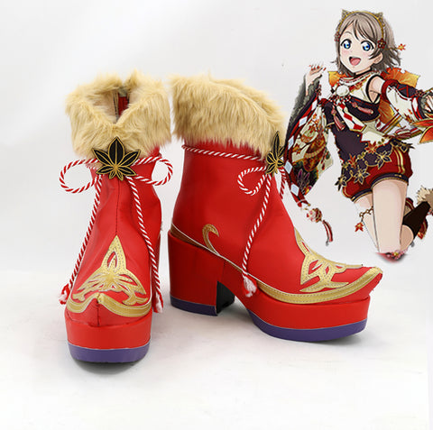 Love Live! Sunshine!! Aqours Fall Leaves Ver. Stiefel Cosplay Schuhe