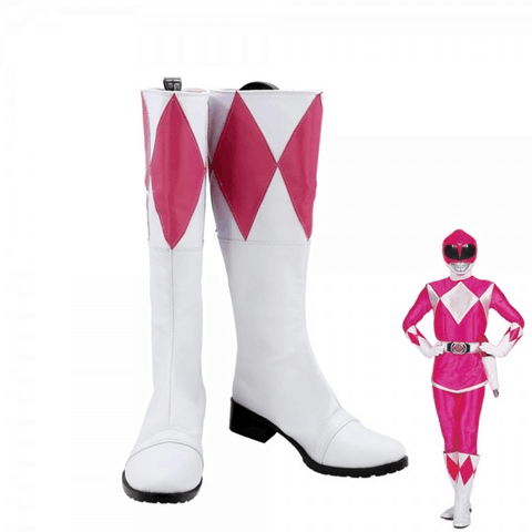 Mighty Morphin Rosa Power Rangers Kimberly Hart Cosplay Schuhe Stiefel