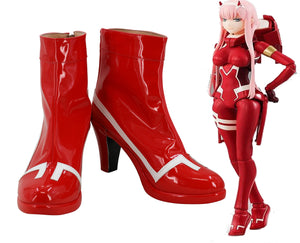 DitF Darling in the Franxx Code 002 Zero Two Stiefel Cosplay Schuhe Rot
