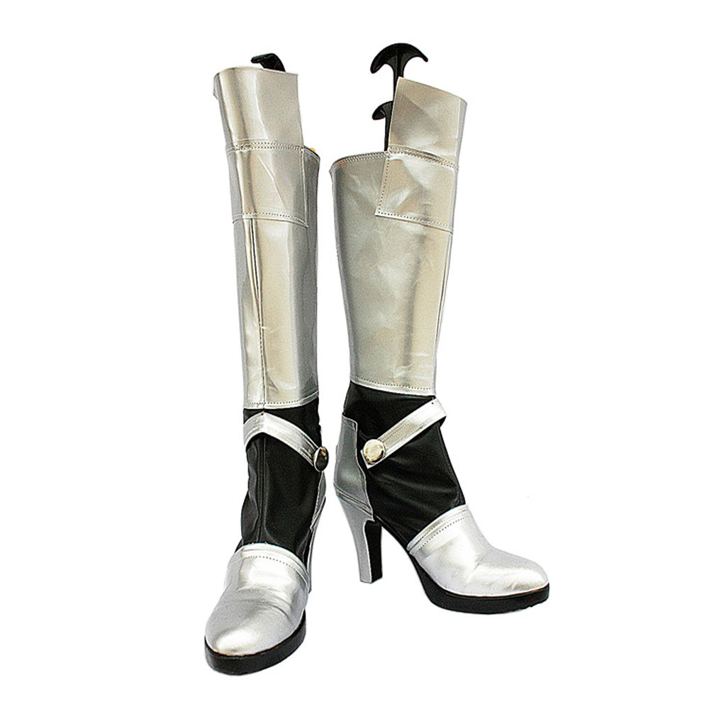 Fate Stay Night Saber Cosplay Stiefel Silber Schuhe