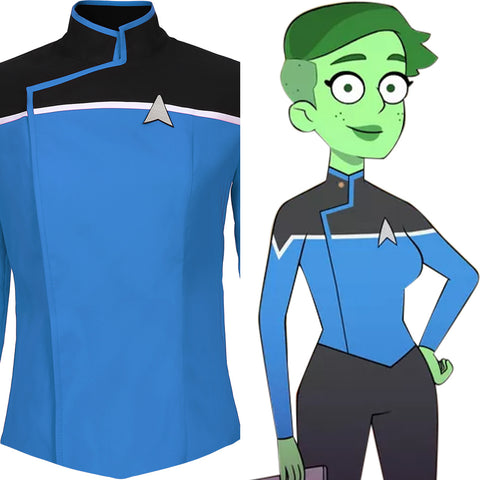 Star Trek: Lower Decks Blau Uniform Oberteil Cosplay Kostüm