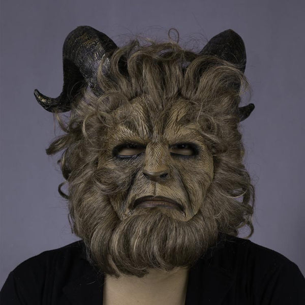 2017 Beauty and the Beast Schönheit und das Biest Dan Stevens Beast Maske Langharre Cosplay