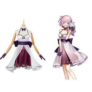 Mashu Kyrielight Kleid Fate/Grand Order FGO Cosplay Halloween Karneval Kostüm