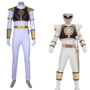 Oliver Weißer Ranger Teenager Tommy Oliver Kostüm Mighty Morphin Power Rangers COSPLAY Kostüm