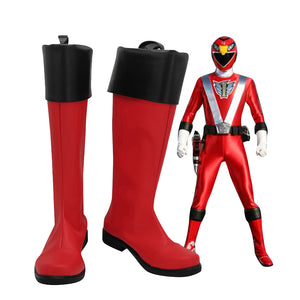 Mighty Morphin Power Rangers Jason Lee Scott Rot Ranger Stiefel Cosplay Schuhe