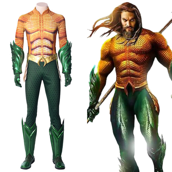 Aquaman DC Film Arthur Curry Superheld Cosplay Kostüm Jumpsuit Set