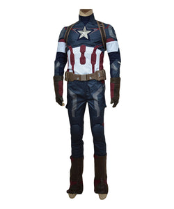 Avengers: Age of Ultron Captain America Steve Rogers Uniform Outfit Cosplay Kostüm
