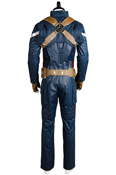 Captain America 2 Winter Soldier The Return of the First Avenger Steve Rogers Uniform Outfit Cosplay Kostüm