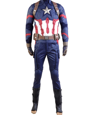 Captain America 3: Civil War Steve Rogers Uniform Cosplay Kostüm
